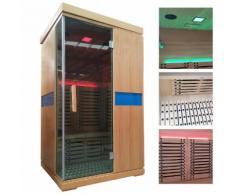 Infrarotkabine HWC-D49, Infrarotsauna Wärmekabine, Musik LED Sicherheitsglas Sauerstoff ~ Variantenangebot