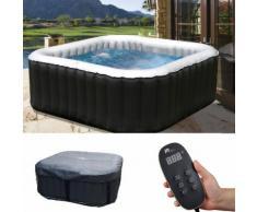 Whirlpool MSpa HWC-A62b, 2+2 Personen In-/Outdoor heizbar aufblasbar 158x158cm FI-Schalter ~ Variantenangebot