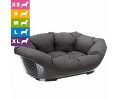Ferplast Hundekorb Siesta Deluxe schwarz mit Überzug Sofà - Anthrazit - L 93 x B 68 x H 28 cm (Größe 10)