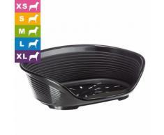Ferplast Hundekorb Siesta Deluxe schwarz - L 49 x B 36 x H 17,5 cm (Größe 2)