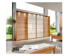 Schwebetürenschrank mit Glas »Kufstein«, weiß, Höhe 220 cm, Breite 330cm, 3-türig, WIEMANN