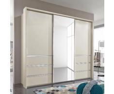 Schwebetürenschrank »Malibu«, beige, Breite 250 cm, Höhe 217 cm, mit Schubkästen, WIEMANN