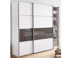 Schwebetürenschrank , weiß, Breite 250 cm, 3-türig, Höhe 236 cm, »Allassio«, WIEMANN