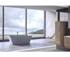 Bad11 Freistehende Badewanne GLORIA weiß Sanitäracryl 170 cm