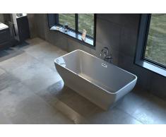 Bad11 Freistehende Badewanne CELINE weiß Sanitäracryl 170 cm