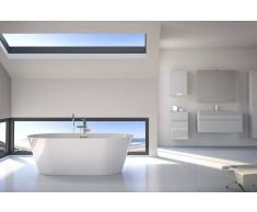 Bad11 Freistehende Badewanne LORETTA weiß Sanitäracryl 170 cm
