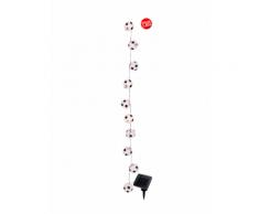 Solarlichterkette Fußball Näve Weiß