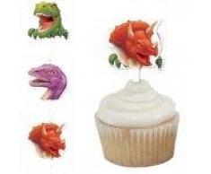 12 Muffin-Dekosticker Dinos und T-Rex II