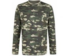 Black Premium by EMP camouflage Longsleeve mit Knopfleiste Herren-Langarmshirt - camouflage