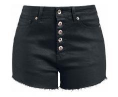 Fashion Victim Hot Pant mit Knopfleiste Damen-Hotpant - schwarz