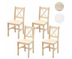 4x Esszimmerstuhl HWC-F77, Lehnstuhl Küchenstuhl Stuhl, Massiv-Holz Landhaus ~ Variantenangebot
