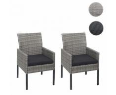 2x Poly-Rattan Sessel HWC-G12, Gartenstuhl Korbsessel ~ Variantenangebot