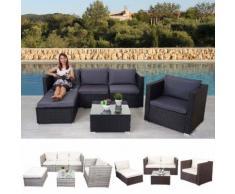 Poly-Rattan-Garnitur Brescia, Gartengarnitur Sitzgruppe Lounge-Set ~ Variantenangebot