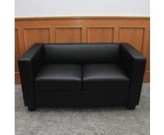 2er Sofa Couch Loungesofa Lille,Leder ~ Variantenangebot