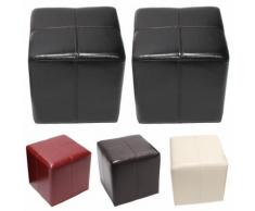 Sitzwürfel Hocker Sitzhocker Onex, Leder + Kunstleder, 36x36x36cm ~ Variantenangebot