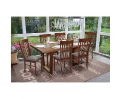 6x Esszimmerstuhl HWC-G62, Küchenstuhl Lehnstuhl Stuhl, Stoff/Textil Massiv-Holz Landhaus ~ Variantenangebot