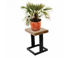Blumenhocker HWC-A15, Blumenständer Pflanzentisch Holzhocker, Tanne Holz rustikal massiv 48x36x32cm ~ Variantenangebot