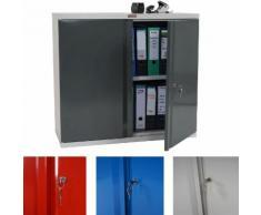Aktenschrank Valberg T330, Metallschrank Büroschrank Stahlschrank, 2 Türen 84x92x37cm ~ Variantenangebot