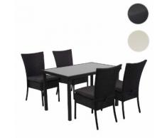 Poly-Rattan Garnitur HWC-G19, Sitzgruppe Gartengarnitur Lounge-Set, 120x75cm stapelbar ~ Variantenangebot