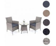 Poly-Rattan-Garnitur HWC-A82, Balkon-Set Gartenmöbel Sitzgarnitur ~ Variantenangebot