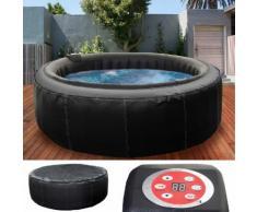 Whirlpool HWC-E32, 6 Personen In-/Outdoor heizbar aufblasbar Kunstleder Ø 208cm FI-Schalter ~ Variantenangebot
