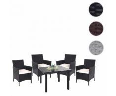 Poly-Rattan-Garnitur Halden, Balkon-Set Gartenmöbel Sitzgarnitur ~ Variantenangebot