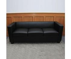 3er Sofa Couch Loungesofa Lille, Kunstleder ~ Variantenangebot