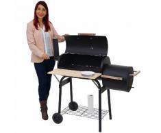 Barbecue-Smoker Hartford, Grill Kohlegrill Standgrill Räucherofen, 116x113x53cm ~ Variantenangebot
