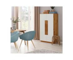 Premium collection by Home affaire Highboard »Lanzo«, aus massivem Eichenholz in hochwertiger Verarbeitung