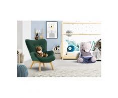 Lüttenhütt Sessel »Duca Mini«, in kleiner Ausführung für Kinder, grün, Samtoptik