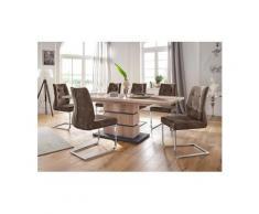 Homexperts Essgruppe »Bonnie«, Breite 160 cm mit Auszug und 4 Stühlen, braun
