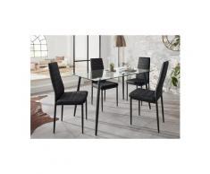 Essgruppe »Danny«, (Set, 5-tlg), mit eckigem Tisch und 4 Stühlen, Neckermann, schwarz