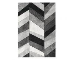 Teppich »BELIS PARKETT«, merinos, rechteckig, Höhe 13 mm, handgearbeiteter Konturenschnitt, grau, 200 cm x 290 cm x 13 mm