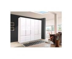 WIEMANN Falttürenschrank »Loft« Glasfront, weiß, 250 cm x 216 cm x 58 cm