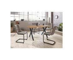 HELA Essgruppe »BONNY II G«, (Set, 5-tlg), bestehend aus einem Tisch und 4 Stühlen, grau