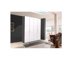 WIEMANN Falttürenschrank »Loft« Glasfront, weiß, 200 cm x 216 cm x 58 cm