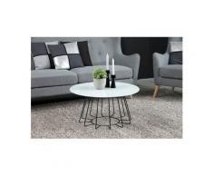 andas Couchtisch »Carola«, mit einer Tischplatte aus Glas und einem schönen Metallgestell in unterschiedlichen Ausführungen, schwarz