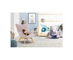 Lüttenhütt Sessel »Duca Mini«, in kleiner Ausführung für Kinder, rosa, Struktur fein