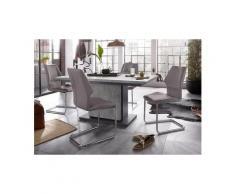 Homexperts Essgruppe »Bärbel/Amelie«, Breite 140 cm mit Auszug und 4 Stühle, grau