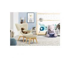 Lüttenhütt Sessel »Duca Mini«, in kleiner Ausführung für Kinder, beige, Luxus-Microfaser