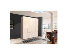 WIEMANN Falttürenschrank »Loft« Glasfront, beige, 200 cm x 216 cm x 58 cm