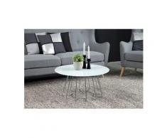 andas Couchtisch »Carola«, mit einer Tischplatte aus Glas und einem schönen Metallgestell in unterschiedlichen Ausführungen, silber