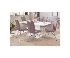 HELA Essgruppe »CLEO G«, (Set, 5-tlg), bestehend aus einem Tisch ausziehbar und 4 Stühlen, weiß