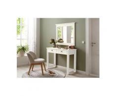 Home affaire Schminktisch »Rauna« (Set, 2 St., Schminktisch mit Spiegel), weiß