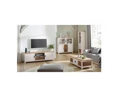 Home Affaire Vitrine »Georgina« mit 1 Glastür, 2 Schubladen, 1 offenes Fach und 1 Korb, Höhe 186 cm, weiß