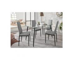 Essgruppe »Danny«, (Set, 5-tlg), mit eckigem Tisch und 4 Stühlen, Neckermann, grau