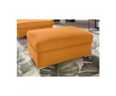 DOMO collection Polsterhocker, orange, Luxus-Microfaser