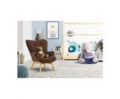 Lüttenhütt Sessel »Duca Mini«, in kleiner Ausführung für Kinder, braun, Luxus-Microfaser