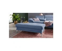 sit&more Polsterhocker, inklusive Federkern, blau, Luxus-Microfaser ALTARA NUBUCK®