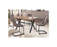 HELA Essgruppe »BONNY I G«, (Set, 5-tlg), bestehend aus einem Tisch und 4 Stühlen, grau